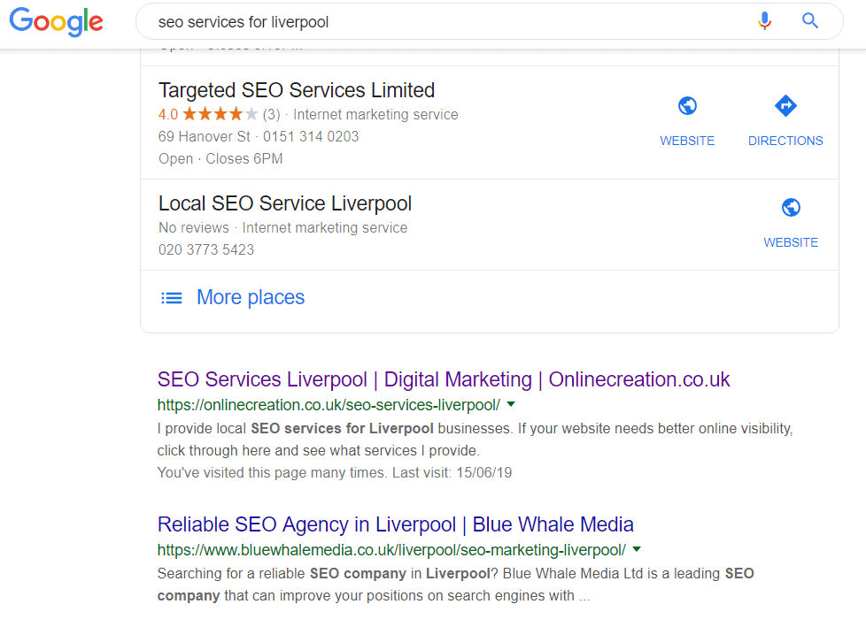 SEO for Liverpool