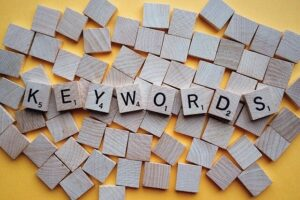 Use keywords as a basis for your seo